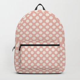 Polka dot dance on pink I - Polka dots pattern Backpack