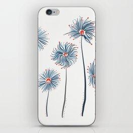 Five Fuzzy Flowers iPhone Skin