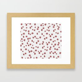 Peppermint Candy in White Framed Art Print
