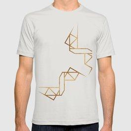 industrial golden glitters T-shirt