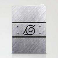 naruto Stationery Cards featuring Naruto Headband by Kesen