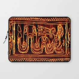 Antik motif with fire Laptop Sleeve