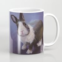 furry Mugs featuring Furry Friend by Ashley Vanchu