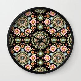 Flower Crown Fiesta Wall Clock