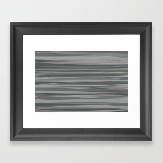 Sea of Greys Framed Art Print
