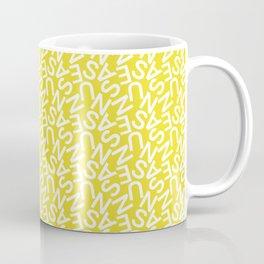 Typography Pattern / Susanne Coffee Mug