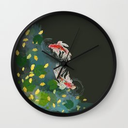 Ginkgo Pond Wall Clock