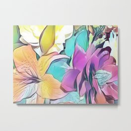 Flower Bouquet Pastel Metal Print