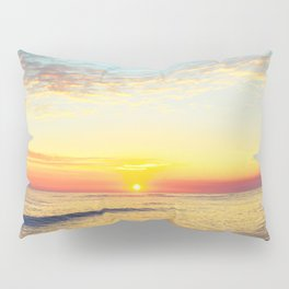 Summer Sunset Ocean Beach - Nature Photography Pillow Sham
