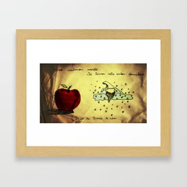 We are not accepting apples. Already heave seven sleeping dwarfs. Kisses from White Snow. Framed Art Print