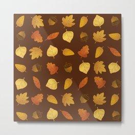 Leaf Lovers in Syrup Metal Print