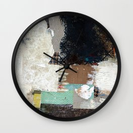 Another Vice Mixed Media Abstract Collage Art Wall Clock