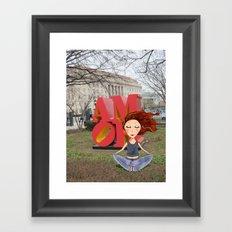 feel the love in DC | DCart Framed Art Print