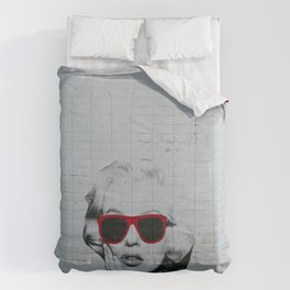 Urban Marylin Monroe Graffiti Art Comforters