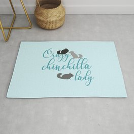 Crazy chinchilla lady Rug