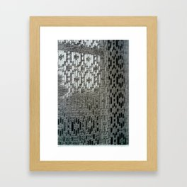 Lace Curtains Framed Art Print
