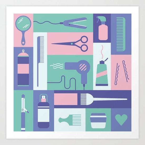 Beauty School Art Print