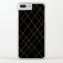 golden lines Clear iPhone Case