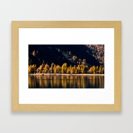 Lake Sils Framed Art Print