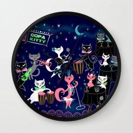 Mambo Kitties Wall Clock