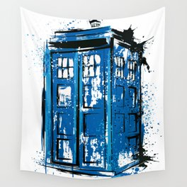 Police Public Call Box Doctor Who Wall Tapestry