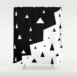 black triangle Shower Curtain