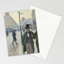 Gustave Caillebotte - Paris Street; Rainy Day Stationery Cards