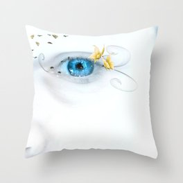 Behind Blue Eyes Throw Pillow