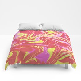 Paint Swirl One: Soleil (Hers) Comforters
