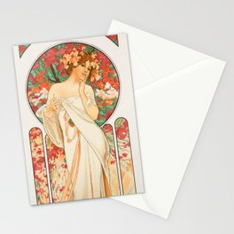 "Alphonse Mucha ""Sylvanis Essence"" Stationery Cards"