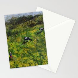 Cows /// by Olga Bartysh Stationery Cards