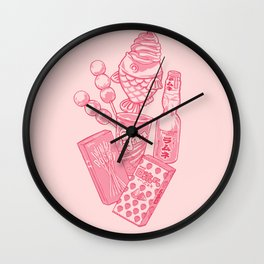Kawaii Snack Pack Wall Clock