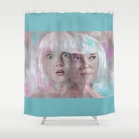 sia Shower Curtains featuring Sia - Maddie by firatbilal