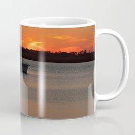 Fishing Boat at Sunset Coffee Mug