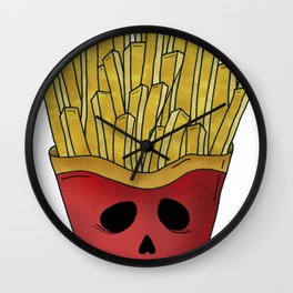 Handsome french fries Wall Clock