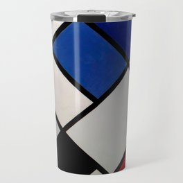 Theo van Doesburg - Contra-Compositions of Dissonances XVI - Abstract De Stijl Painting Travel Mug