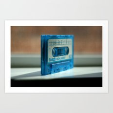 Blue Tape Art Print
