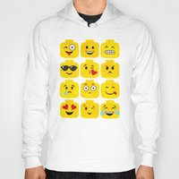 emoji Hoodies featuring Emoji-Minifigure by Raddington Falls