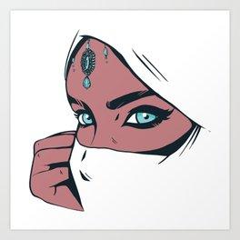 Beautiful Muslim Burqa Woman Gift Art Print