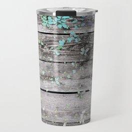 Planks and leaves Travel Mug