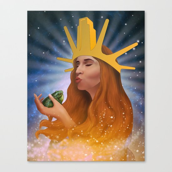 Princess Kiss Canvas Print