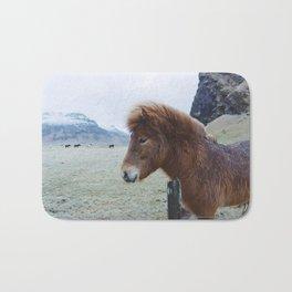 Brown Horse in Iceland Bath Mat