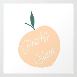 Peachy Clean Art Print