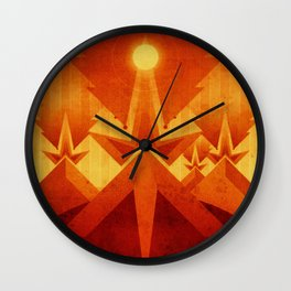 Mars - Cryptic Geysers Wall Clock