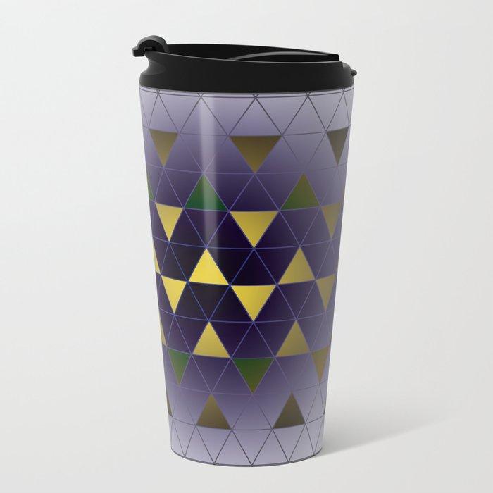 Golden Triangles Metal Travel Mug