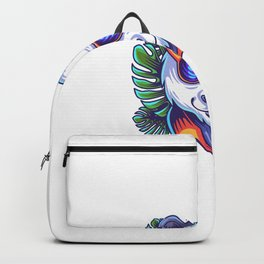 Panda Head Logo With Glases Backpack