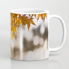 Autumnlights - Gold marple leaves at sparkling backlight Coffee Mug