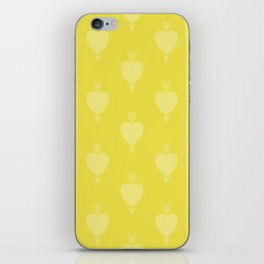 Hearts and Arrows - Blazing Yellow iPhone Skin