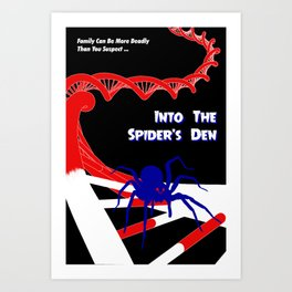 Pulp-Style Novel Cover - Into the Spider's Den Art Print