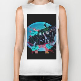 Day of the Dead Horse Biker Tank